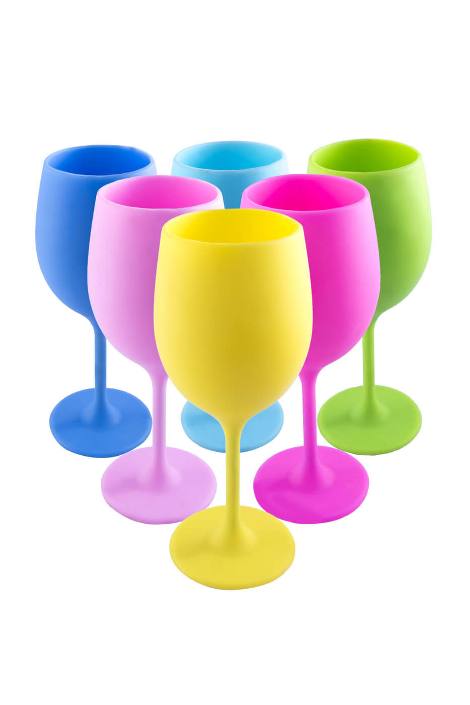 41e4d923395 Silicone Wine Glass - Pack of 6 Glasses